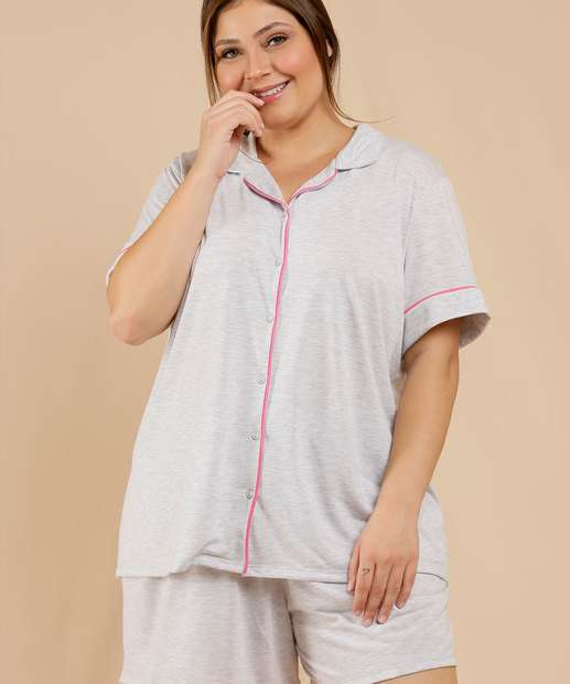 Image_Pijama Plus Size Feminino Manga Curta Marisa