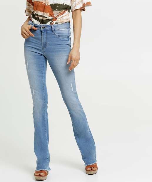 Image_Calça Jeans Puídos Flare Feminina Sawary