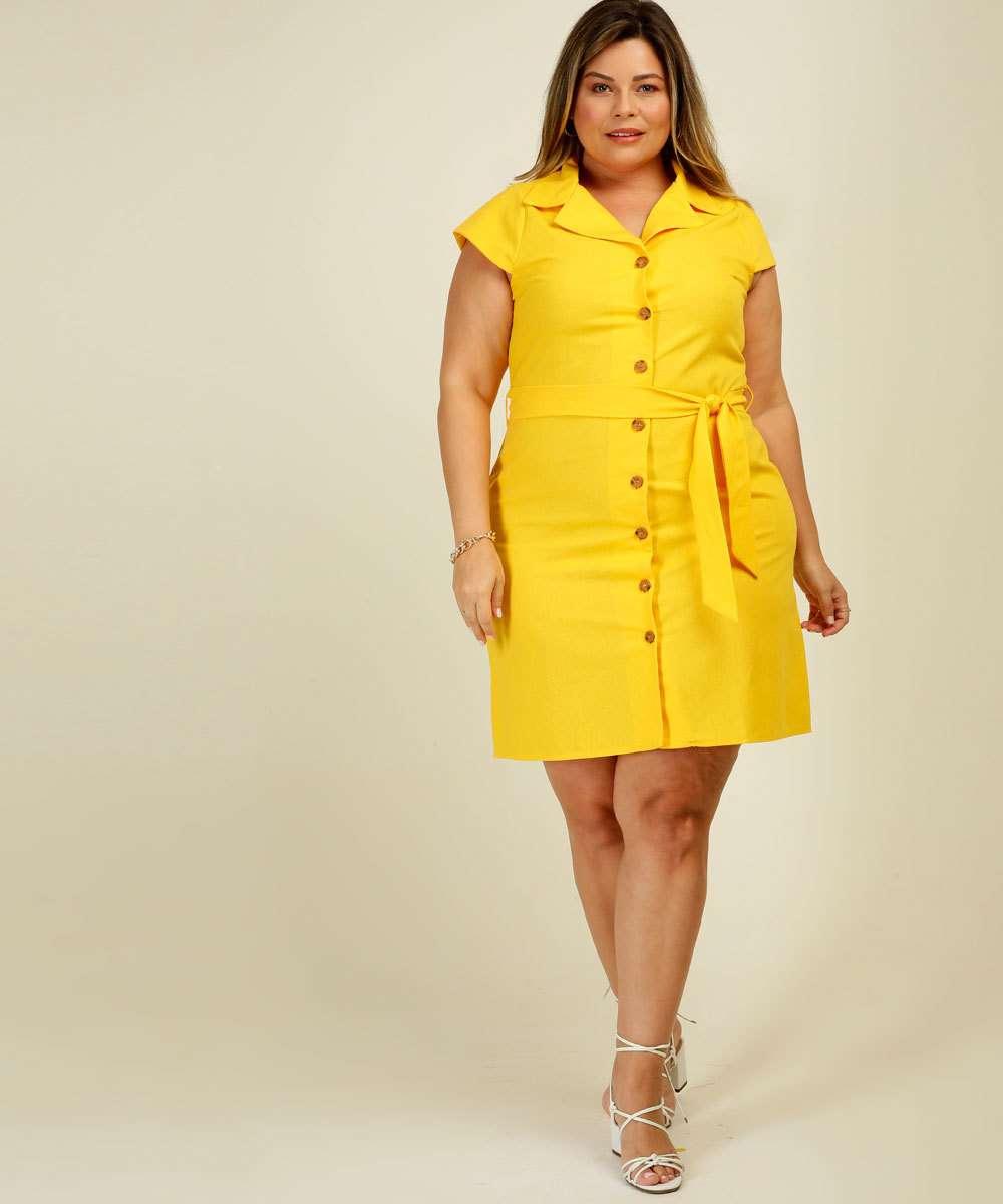 Vestido Plus Size Feminino Chemise