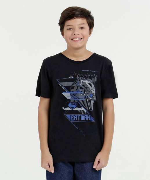Image_ Camiseta Juvenil  Estampa Batman Liga da Justiça