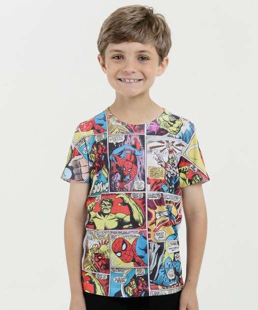 Image_Camiseta Infantil Estampa Quadrinhos Manga Curta Marvel