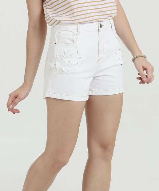 Image_Short Feminino Jeans Vazado Marisa