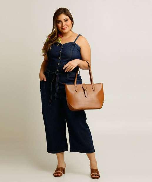 Image_Macacão Plus Size Jeans Feminino Pantacourt