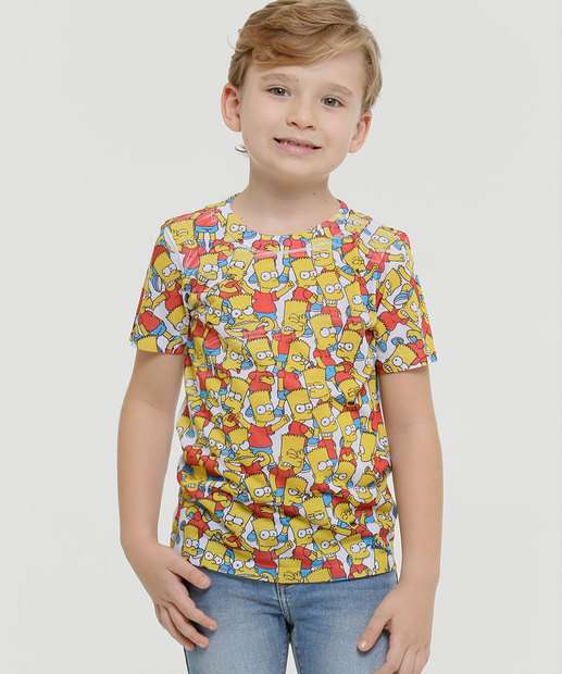 Image_Camiseta Infantil Manga Curta Simpsons Tam 4 a 10