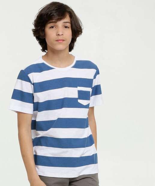 Image_Camiseta Juvenil Listrada Manga Curta MR