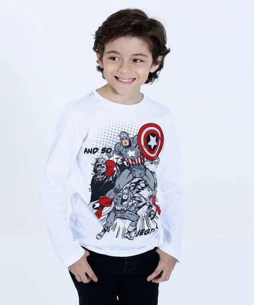 Image_Camiseta Infantil Capitão América Manga Longa Marvel