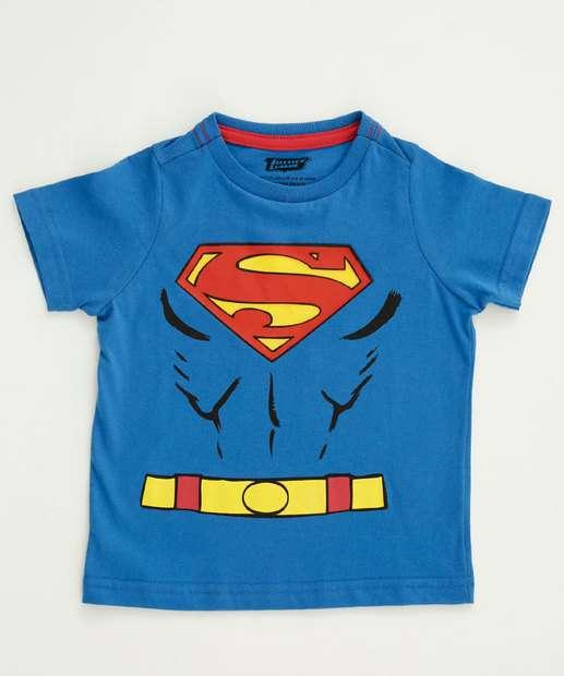 Image_Camiseta Infantil Estampa Super Homem Liga da Justiça
