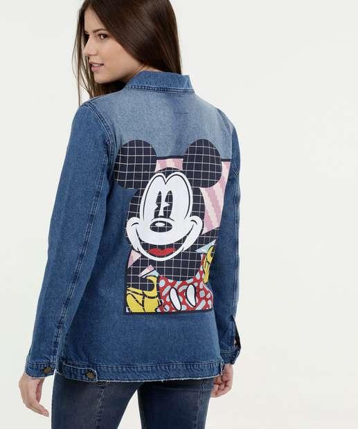 Image_Jaqueta Feminina Jeans Estampa Mickey Disney