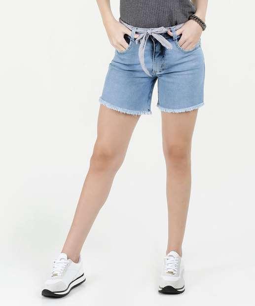 Image_Short Feminino Jeans Desfiado Cintura Média Biotipo