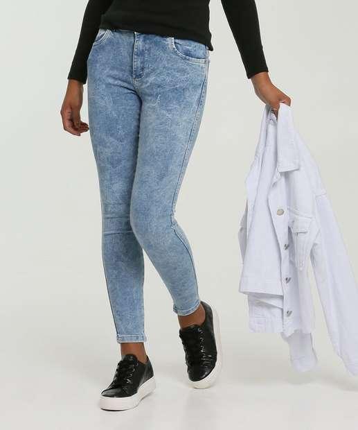 Image_Calça Skinny Feminina Marmorizada Zune Jeans By Sabrina Sato