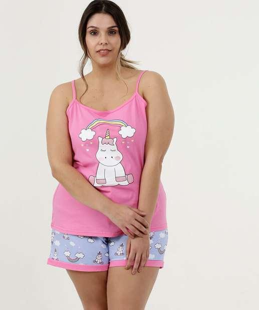 Image_Pijama Feminino Estampa Unicórnio Plus Size DeMillus