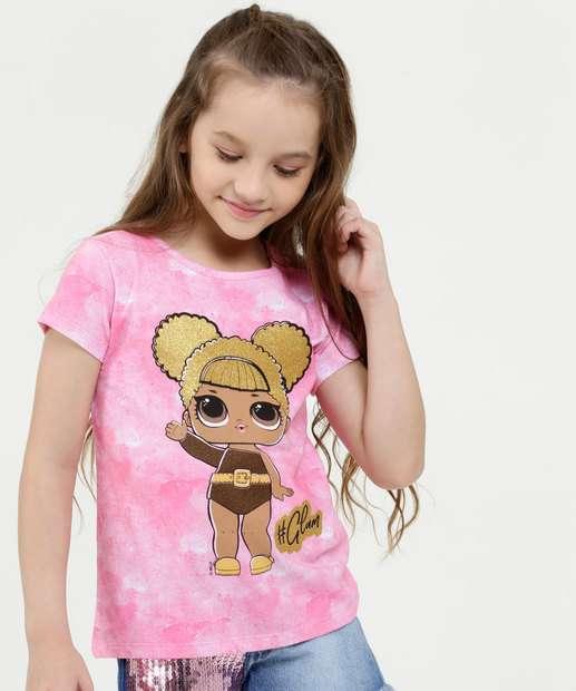 Image_Blusa Infantil Estampa Tie Dye Manga Curta Lol
