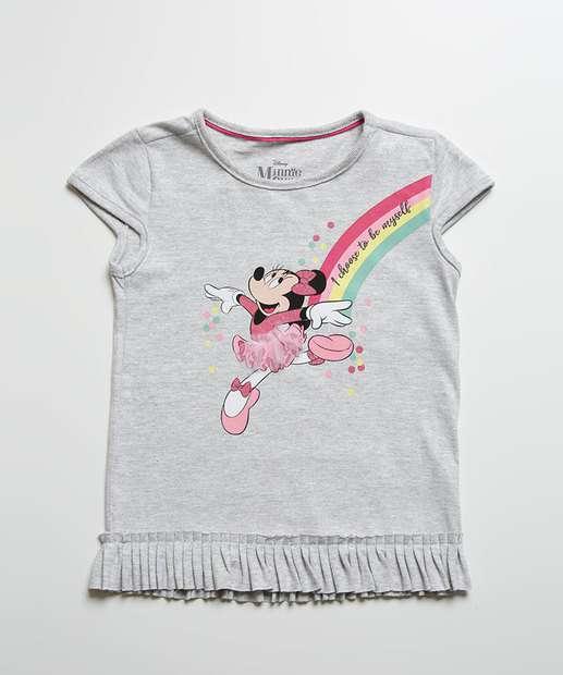 Image_Blusa Infantil Minnie Babado Manga Curta Disney