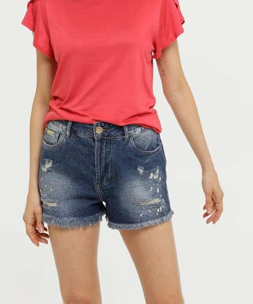 Image_Short Feminino Destroyed Barra Desfiada Uber Jeans