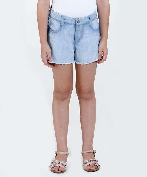 Image_Short Infantil Jeans Glitter Desfiado Marisa