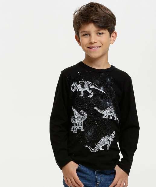 Image_Camiseta Infantil Estampa Dinossauros Manga Longa