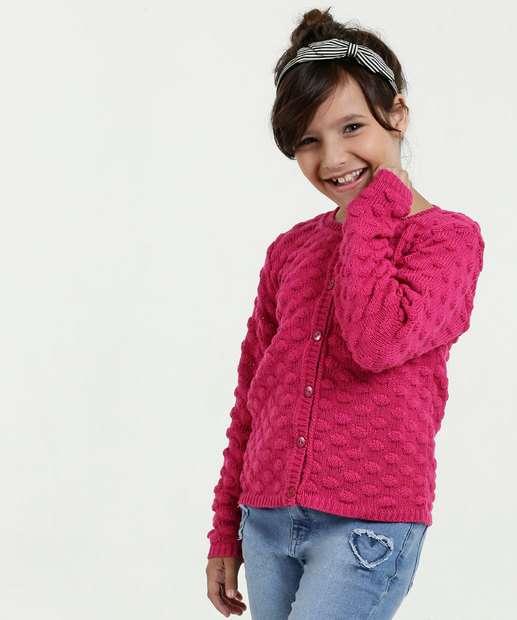 Image_Cardigan Infantil Tricô Marisa