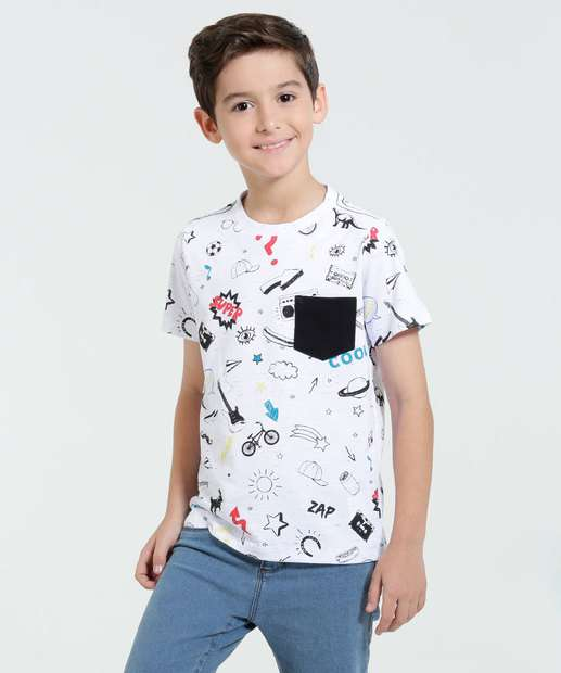 Image_Camiseta Infantil Estampa Divertida Marisa