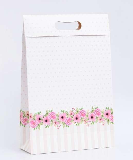Image_ Embalagem Presente Sacola Estampa Bolinhas Marisa