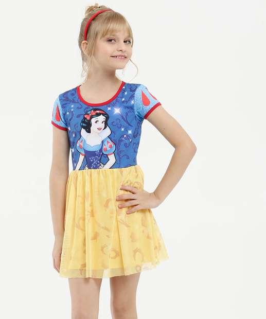 Image_Vestido Infantil Estampa Branca de Neve Disney