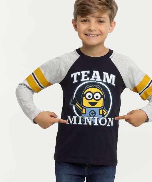 Image_Camiseta Infantil Estampa Minions Manga Longa Universal