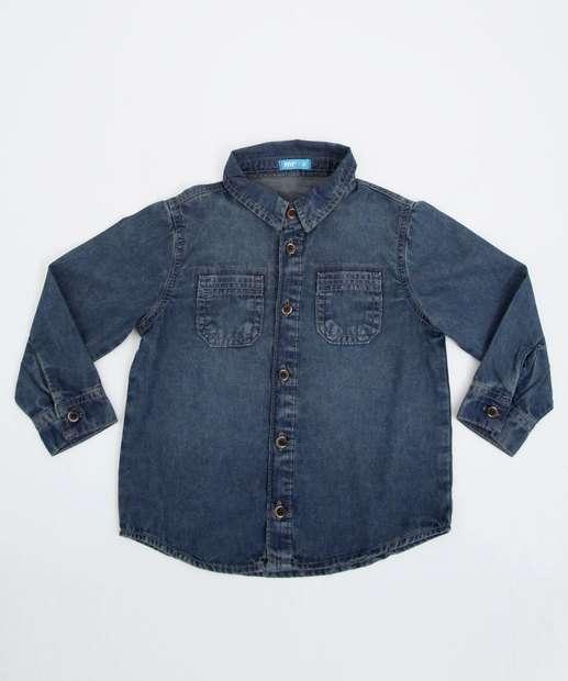 Image_Camisa Infantil Manga Longa Jeans MR Tam 1 a 4