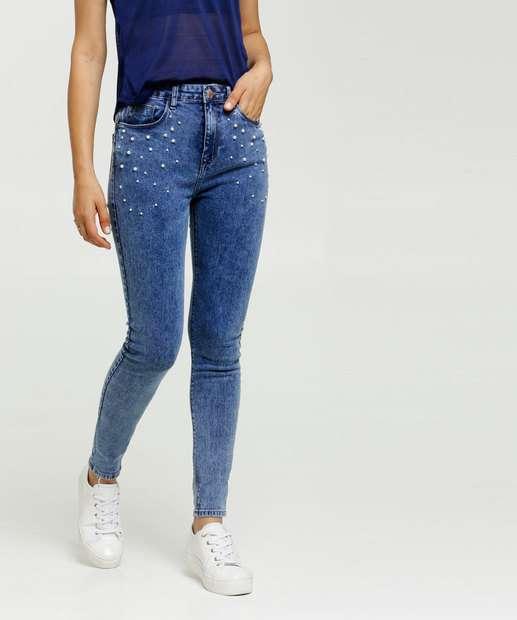 Image_Calça Jeans Skinny Feminina Pérolas Marisa