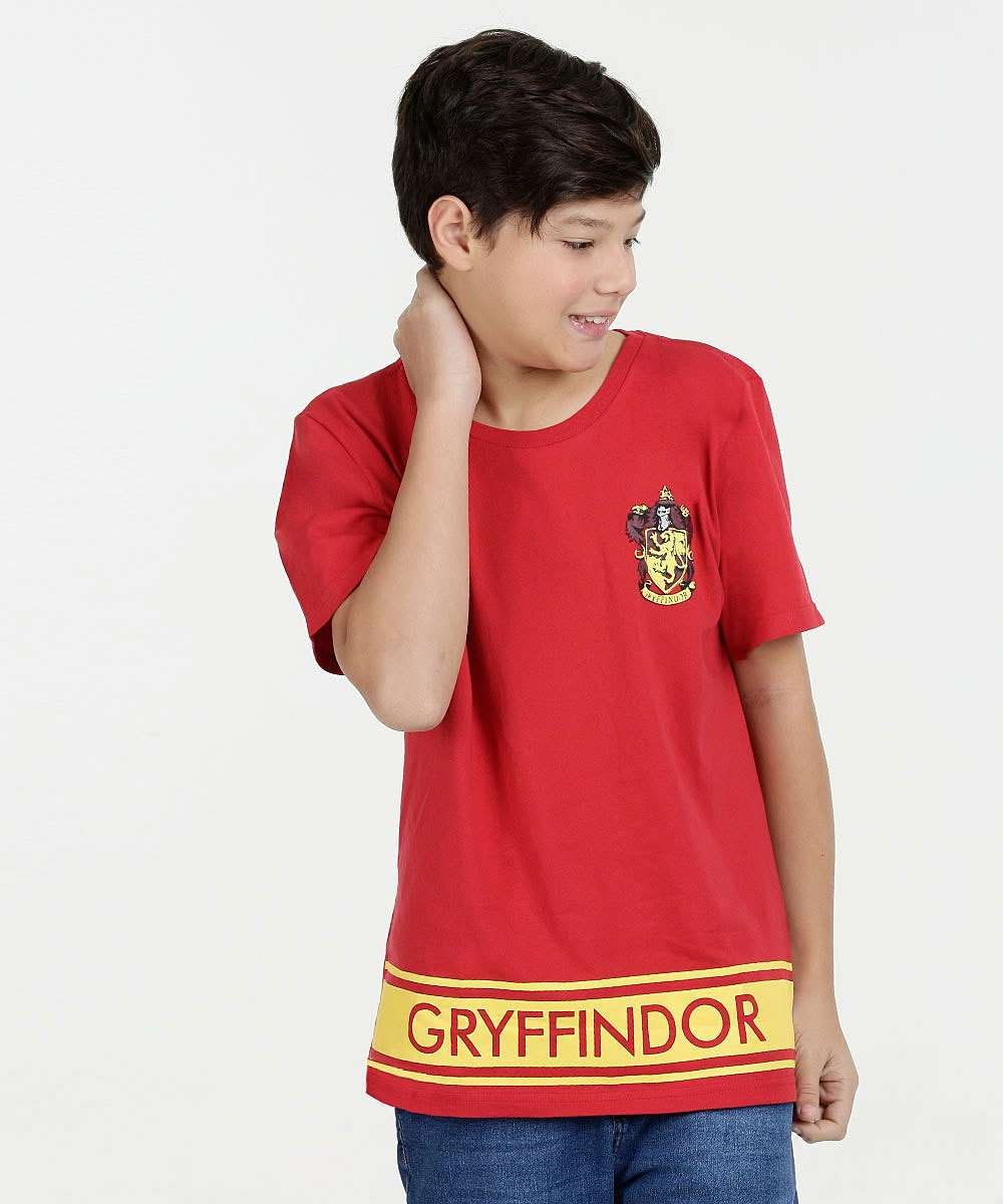 Camiseta Juvenil Estampa Herry Potter Warner Bros