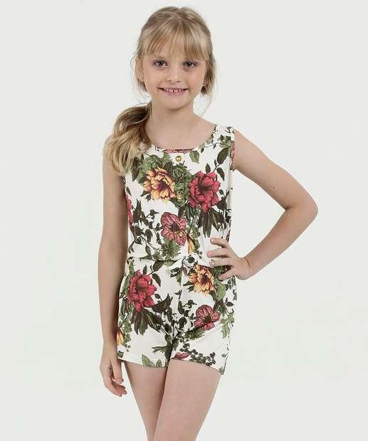 Image_Macaquinho Infantil Estampa Floral Sem Manga Luktal