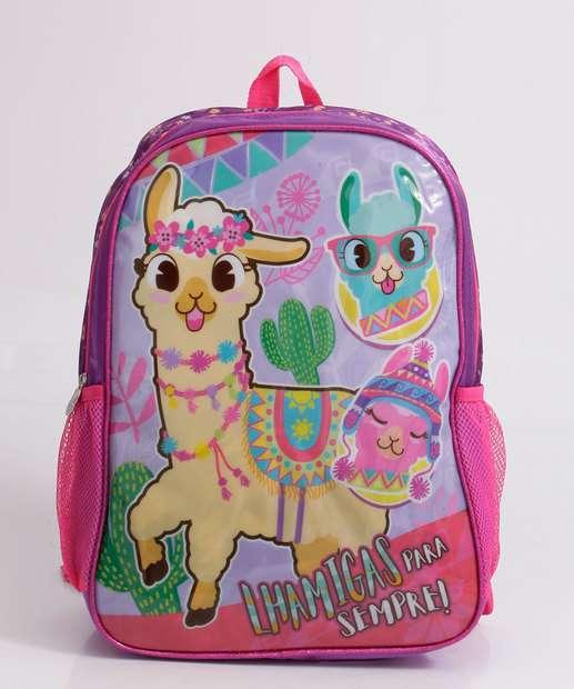 Image_Mochila Infantil Escolar Estampa Lhama Clio