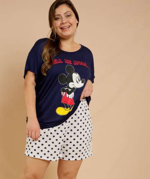 Image_Pijama Plus Size Feminino Estampa Mickey Disney