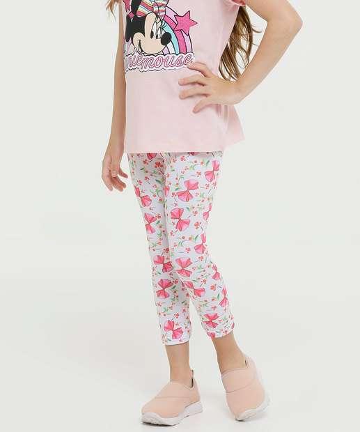 Image_Calça Infantil Legging Estampa Laço Tam 4 A 8