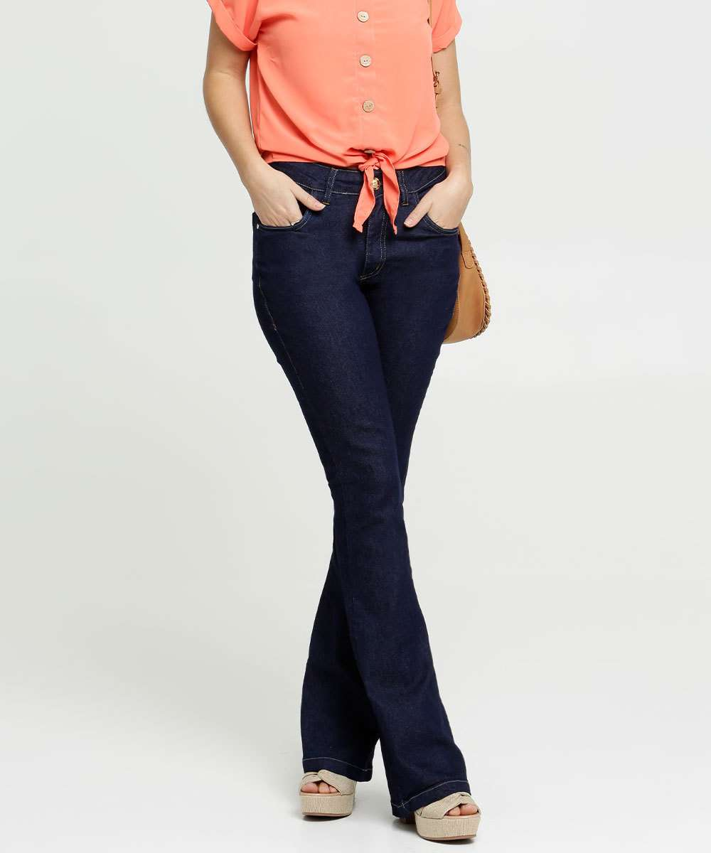 Calça Feminina Flare Stretch Uber Jeans
