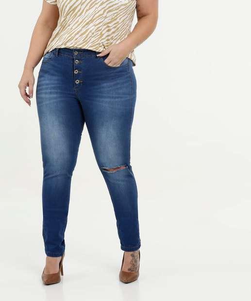 Image_Calça Feminina Jeans Cigarrete Destroyed Plus Size Razon