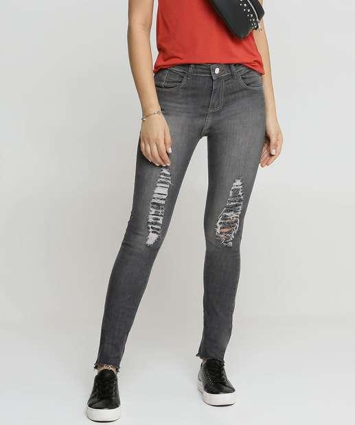 Image_Calça Jeans Destroyed Skinny Feminina