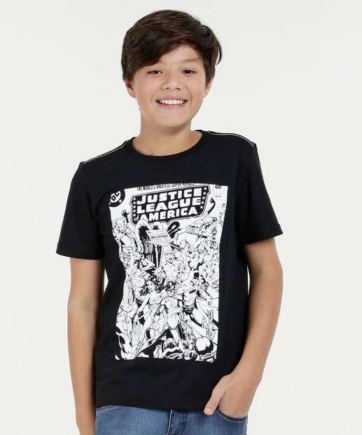 Image_Camiseta Juvenil Manga Curta Liga da Justiça