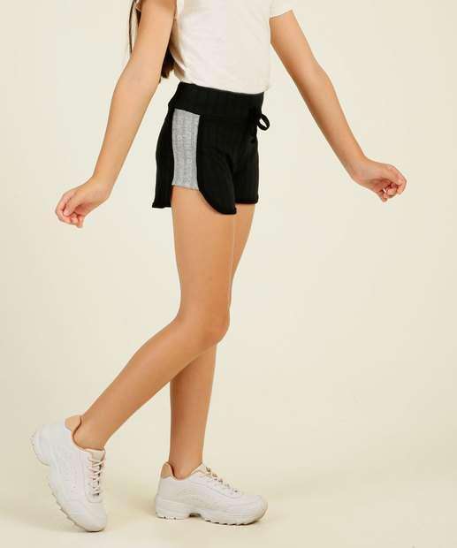 Image_Short Infantil Canelado Recorte Tam 4 a 10