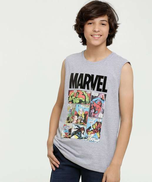 Image_Regata Juvenil Estampa Os Vingadores Marvel