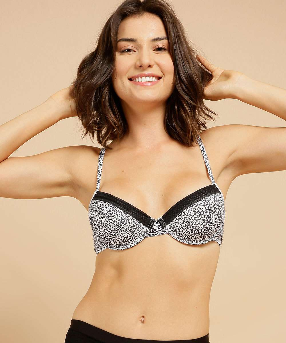 Sutiã Feminino Push Up Estampado Marisa