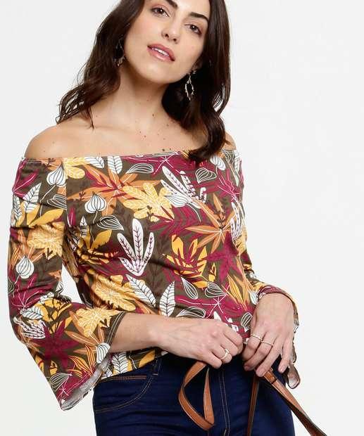 Image_Blusa Feminina Ombro a Ombro Estampa Floral Marisa