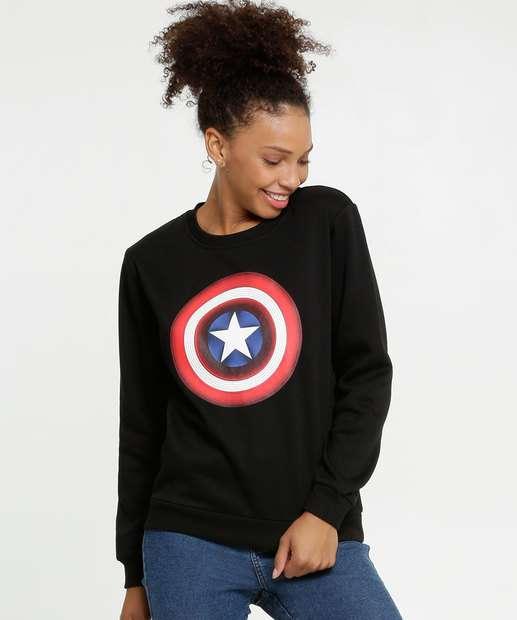Image_Blusão Feminino Moletom Capitão América Marvel