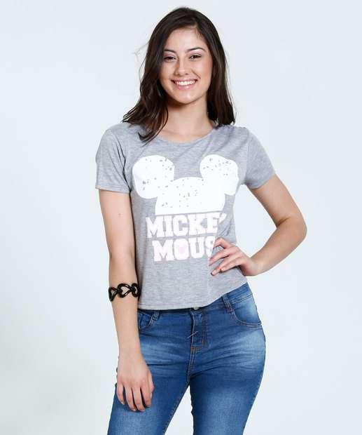 Image_Blusa Juvenil Manga Curta Tiras Mickey Disney