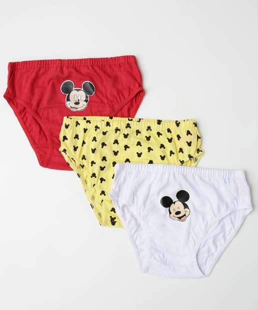 Image_Kit 3 Cuecas Infantil Estampa Mickey Disney