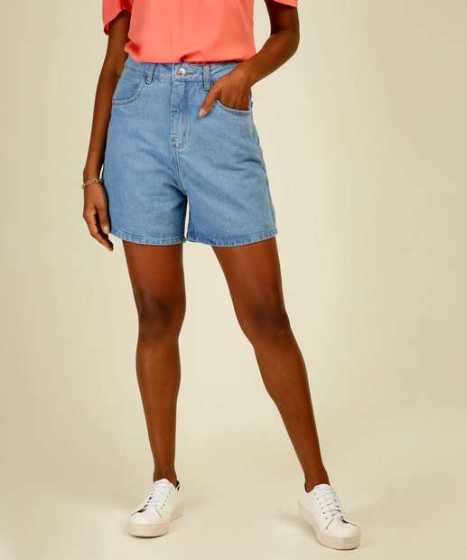 Image_Bermuda Jeans Feminina Cintura Alta Marisa