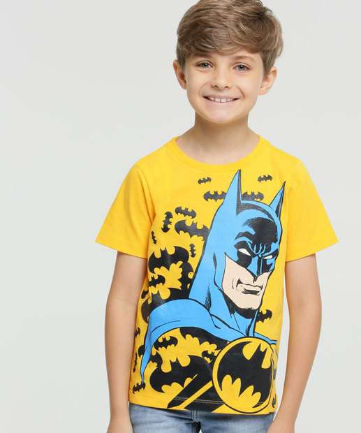 Image_Camiseta Infantil Batman Manga Curta Liga da Justiça