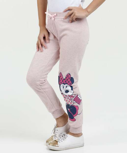Image_Calça Infantil Moletom Minnie Disney