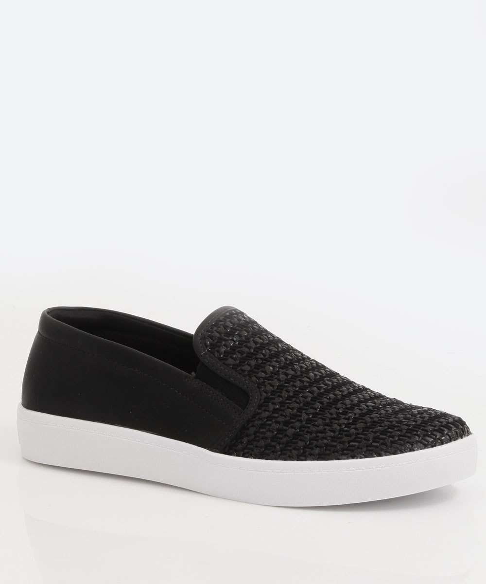 Tênis Feminino Slip On Textura Via Uno