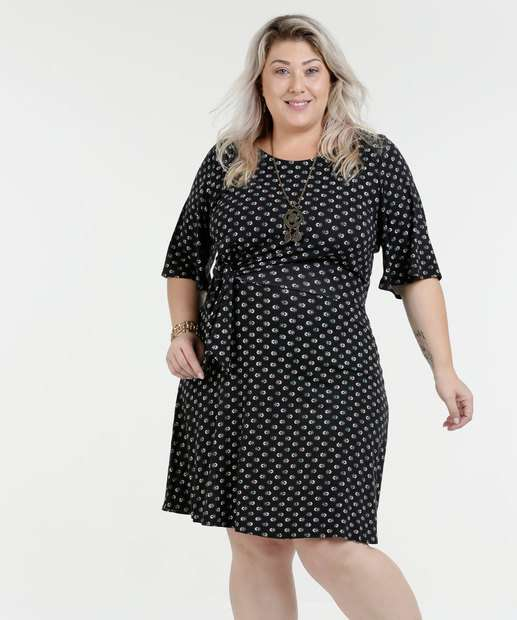Image_Vestido Estampado Laço Frontal Plus Size Marisa