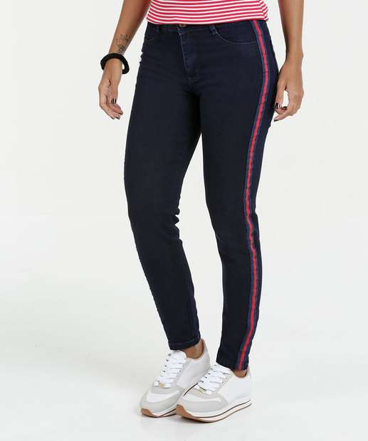 Image_Calça Feminina Jeans Skinny Listras Sawary