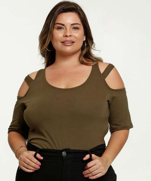 Image_Blusa Feminina Open Shoulder Strappy Plus Size
